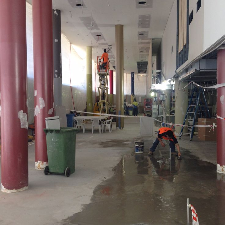 Novotel floor preparation by Aged Oak Wide Floors