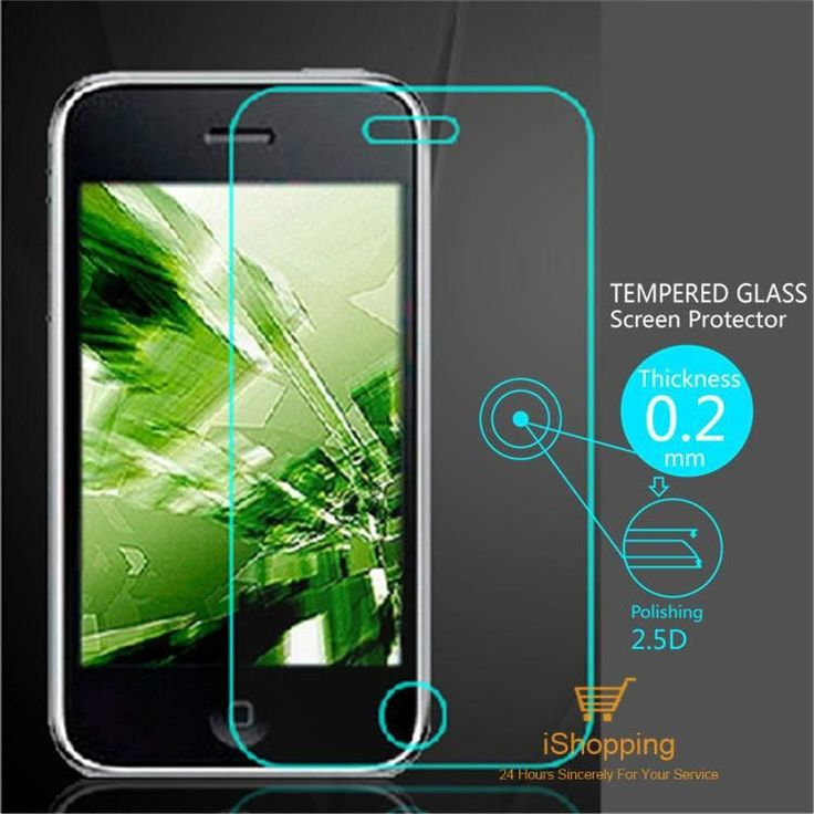 Ultra Thin 0.2mm Premium Explosion-Proof Tempered Glass Screen Protector Film for Apple iPhone 3 3G 3GS With Retail Package
