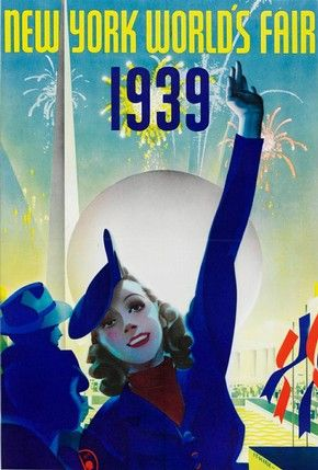 New York World's Fair poster, Albert Staehle, 1939. l Victoria and Albert Museum