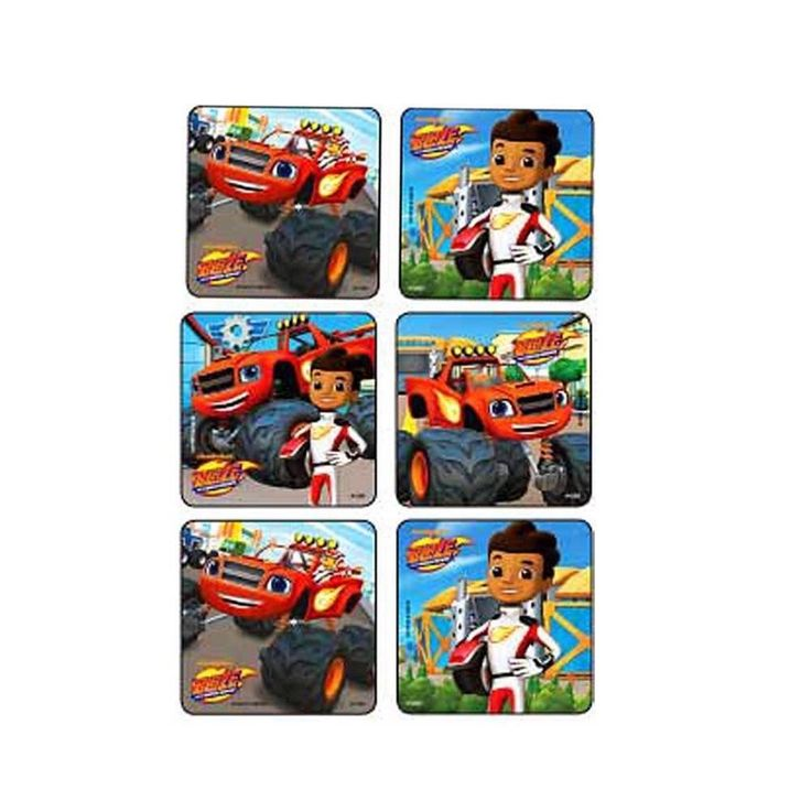 90 Ct Blaze & the Monster Machines Sticker Pack - Great Party Favors , Rewards