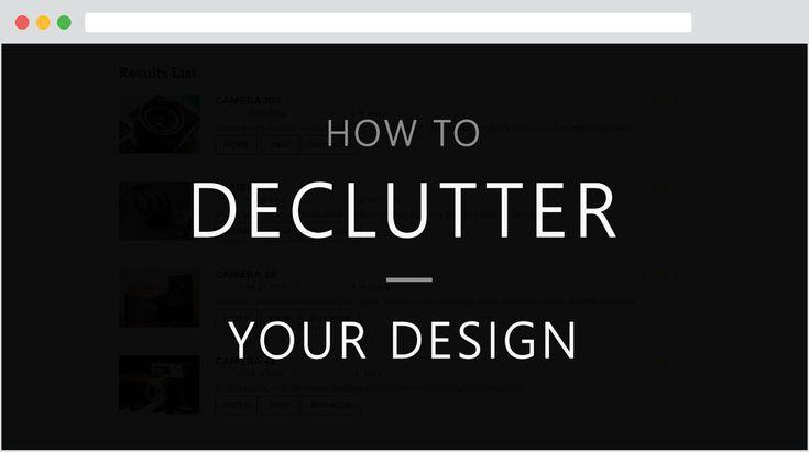 아래와 같이 해석했습니다. Declutter: (문제를)없애기, 해결하기, 정리하기 Cluttered: 조잡한, 어수선한, 번잡한 calls-to-action(CTA): 행위 유발을 유도하는 버튼이나 문구  단순함은 예술 양식(art form)이라 하는데 UI 디자인에서 이만큼 잘 어울리는사례는 없습니다.   완벽한 세상 현실적으로 보시죠. 랜딩 페이지