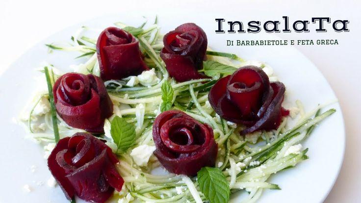 INSALATA DI RAPA E FETA GRECA AGRODOLCE  ( Beet roses) RICETTA FACILE Ki...