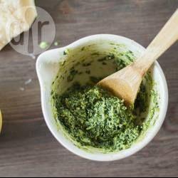 Pesto is a fresh and easy sauce alternative for pizza. @ allrecipes.com.au