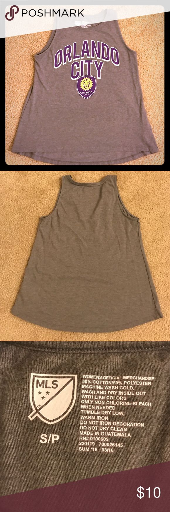 Orlando City soccer tank. Gray Orlando City soccer tank. I bought it from Old Navy, its in great condition! Tops Tank Tops