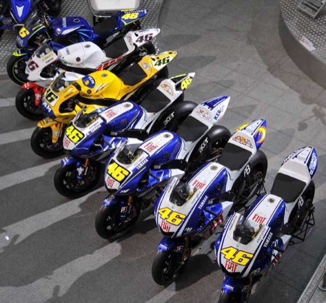 Valentino Rossi list of Yamahas.