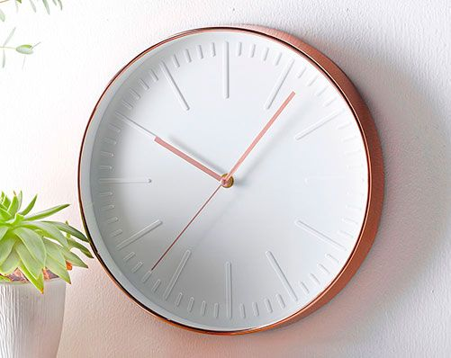 Copper Coloured Clock
