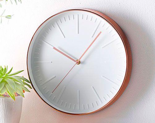 Copper Coloured Clock