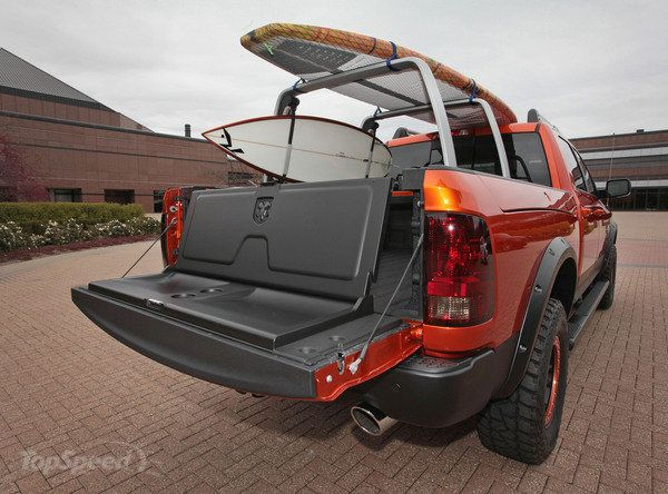 2014 Ram 1500 Sun Chaser Concept  I love the fold down seat on the tailgate,  K