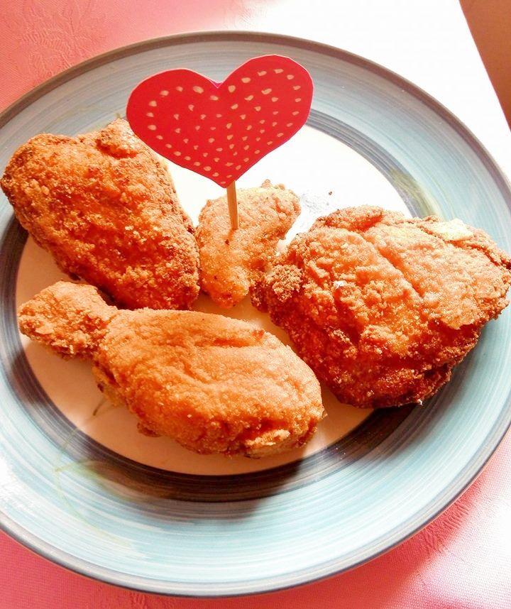 Doritos fried chicken (decoration idea for valentine's day)