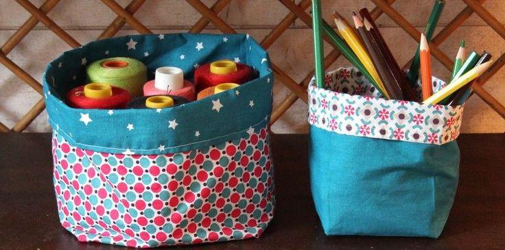 Voici un tuto facile pour réaliser un panier en tissus : vide poche, rangement... Le panier en tissus trouvera aisément sa place dans votre intérieur.