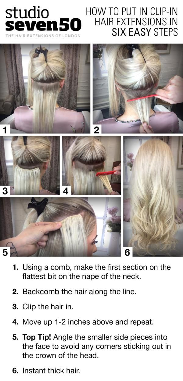 Best 25 diy hair extension clips ideas on pinterest clip on how to apply clip in hair extensions in six easy steps pmusecretfo Image collections