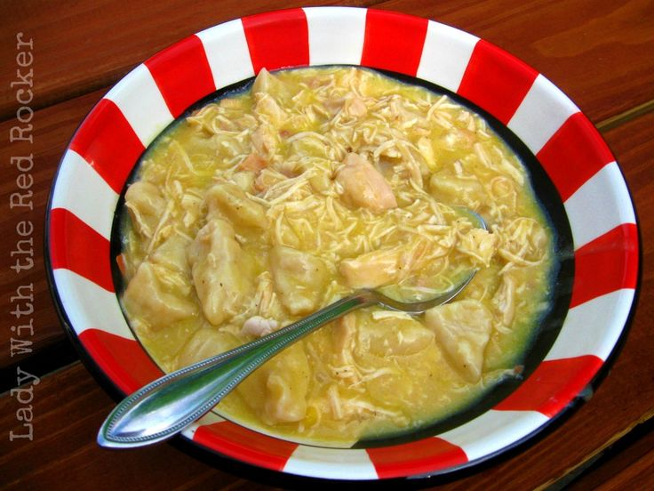 ~Lady With the Red Rocker~ Slow Cooker Chicken and Dumplings