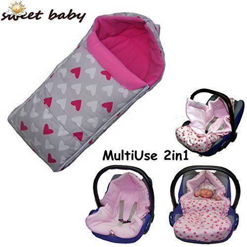 Sweet Baby ** GONDOLI MultiUse 2en1 Polar Soft ** Chancelière universelle / Sac a pied pour siège auto Maxi Cosi Citi, Pebble, CabrioFix,…