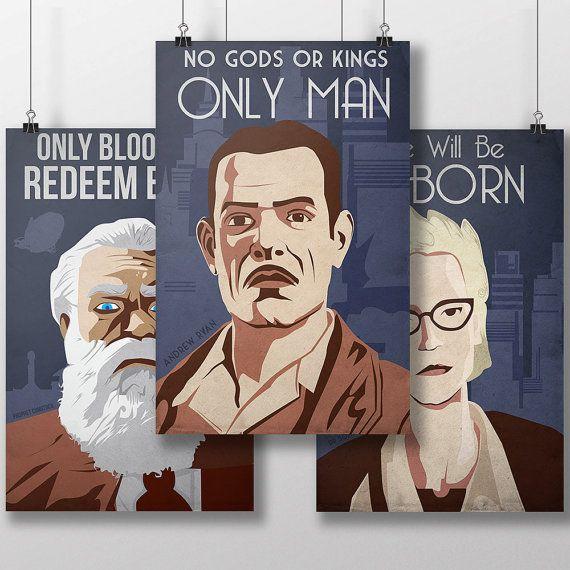 Bioshock Dictator Propaganda 3 Pack  Andrew Ryan  Sofia Lamb