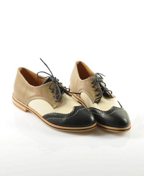 Cambridge Color Block Cut Out Brogues ($58) ❤ liked on Polyvore