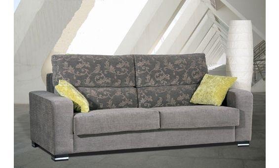 Sofa cama tres plazas. Sofá tapizado en tela.