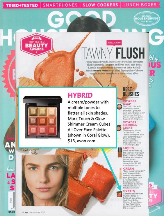 In case you missed it, be sure to check out the Good Housekeeping Magazine feature on mark. Touch & Glow! #AvonRep 20 % off + free shipping FS20A06 Copy Code Go shop online at Avon