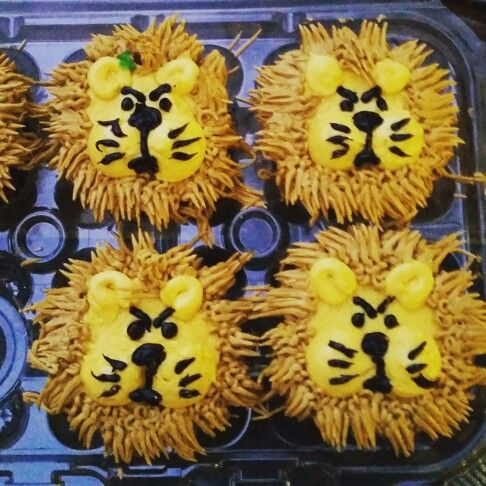 They made me #LeoTheLion cupcakes for my birthday! #BestBirthdayEver