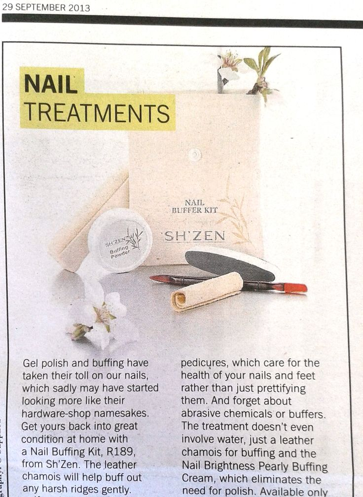 Sunday Times, Fashion weekly, features our Nail Buffing Kit! http://www.shzen.co.za/hands_nail_care.php #ShZen #nailcare #beauty