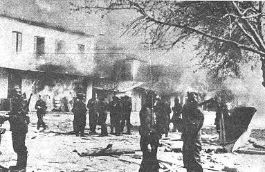 The Massacre of Kalavryta was the extermination of the male population, and the total destruction of the town of Kalavryta, in Greece, by German occupying forces during World War II on 13 December 1943.
