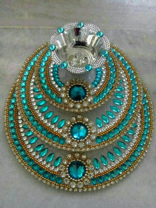 Diya rangoli stand made by sapna creation sapna emporium for Diwali decoration material