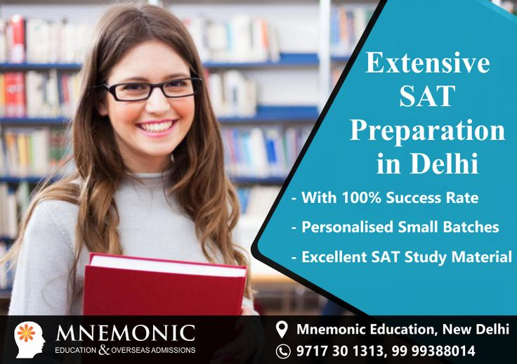 Mnemonic Education is the right place where you can certainly find excellent SAT Preparation in Delhi, Noida or Gurgaon. Our experienced SAT trainers & study material remain in constant influx to keep up with the recent trends of new SAT exam format. Follow latest updates and news at our official website Mnemoniceducation.com.