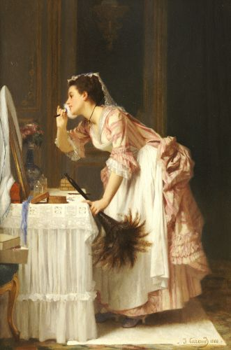 """The Chamber Maid, (1868) by Joseph Caraud"""