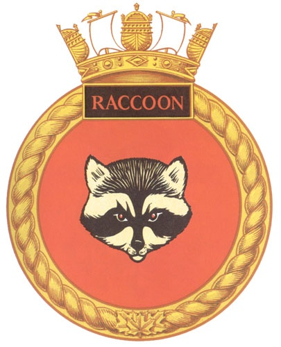 raccoon badge HMCS navy
