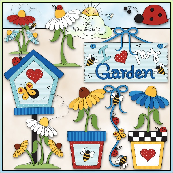 Love My Garden 1 - NE Trina Clark Clip Art : Digi Web Studio, Clip Art, Printable Crafts & Digital Scrapbooking!