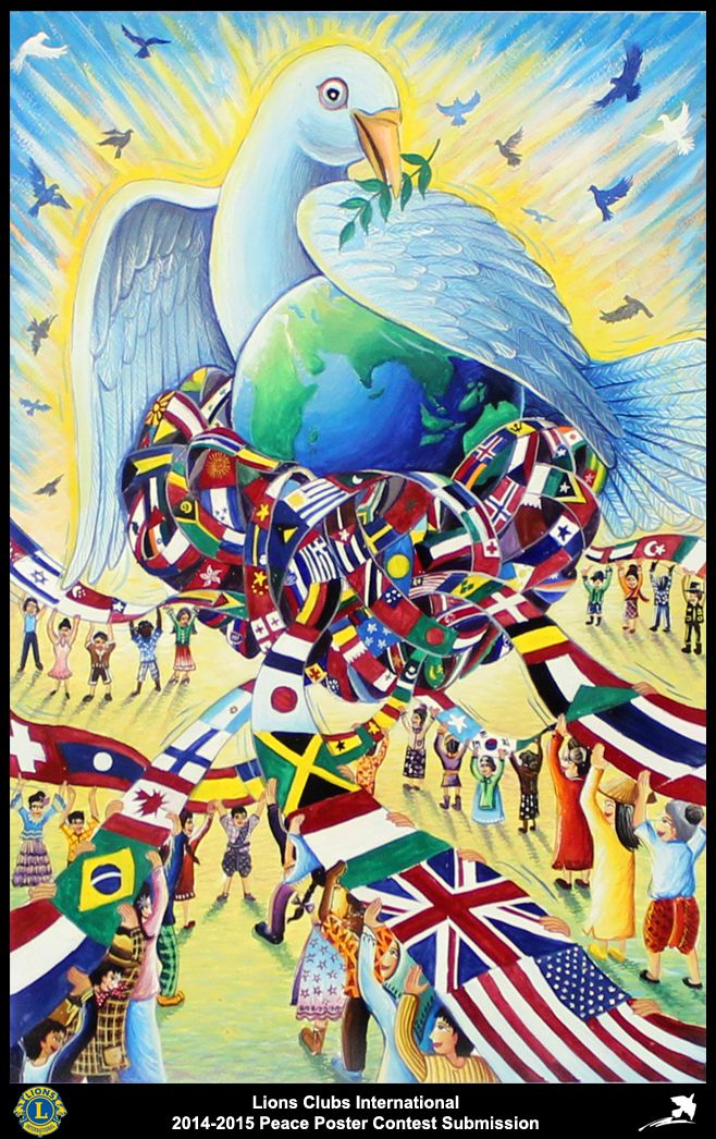 2014-15 Lions Clubs International Peace Poster Competition submission from Trang Lions Club in Thailand