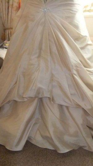 DIY French Bustle tutorial (LOTS of pics!) :  wedding 1 point 3 point 1 box pleats bustle diy bustle french bustle underbustle DSCF4409