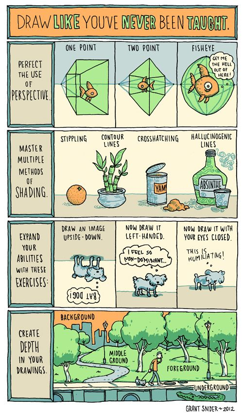 Grant Snider http://thoughtballoonhelium.blogspot.com/2012/02/draw-like-youve-never-been-taught.html