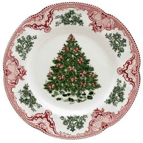 christmas china patterns holiday | Johnson Brothers Old Britain Castles Pink