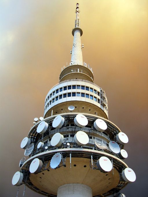 Telstra Tower - Canberra - Australia during the 2003 bushfires