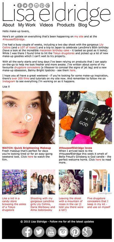 Lisa Eldridge Make Up   Mailing List
