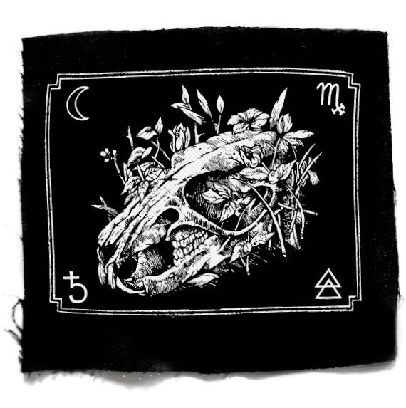 Rat Skull patch, Punk Patch, Horror, Black