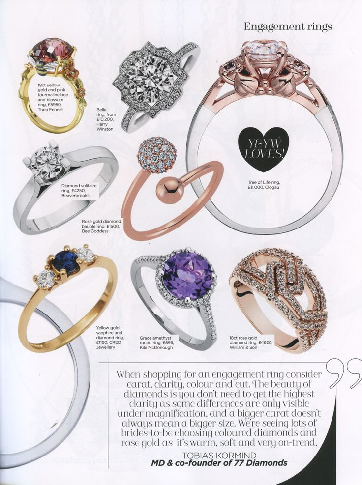 Tree of Life engagement ring featured in You and Your Wedding jewellery special
