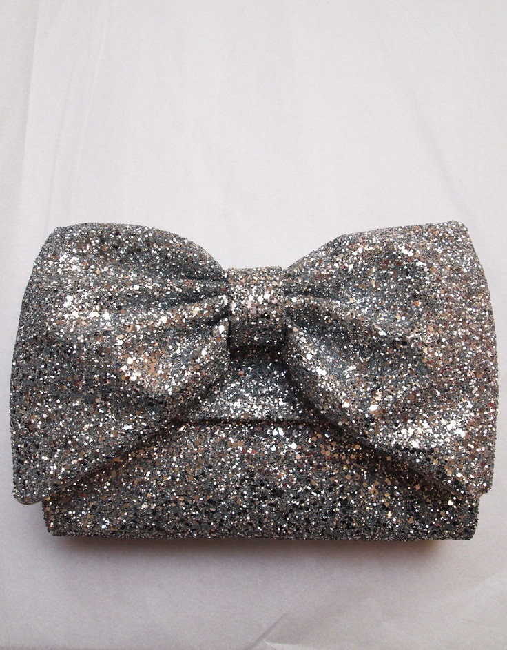 Silver Glitter Clutch Bag. Gorgeous!