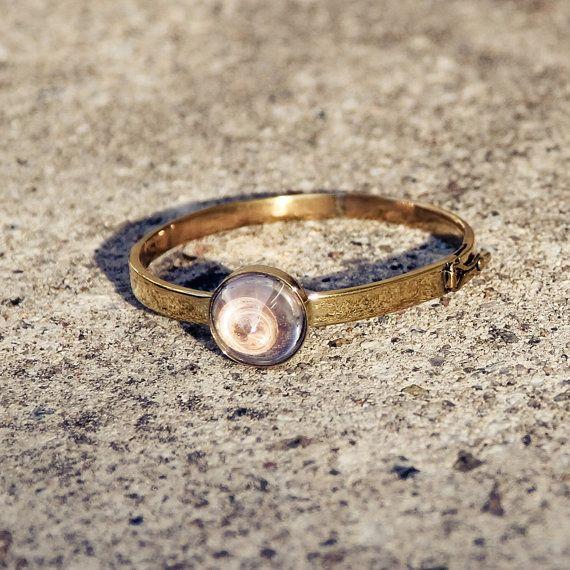 Clear Rock Quartz Bracelet Statement Bracelet by BoogeJewellery, $88.00