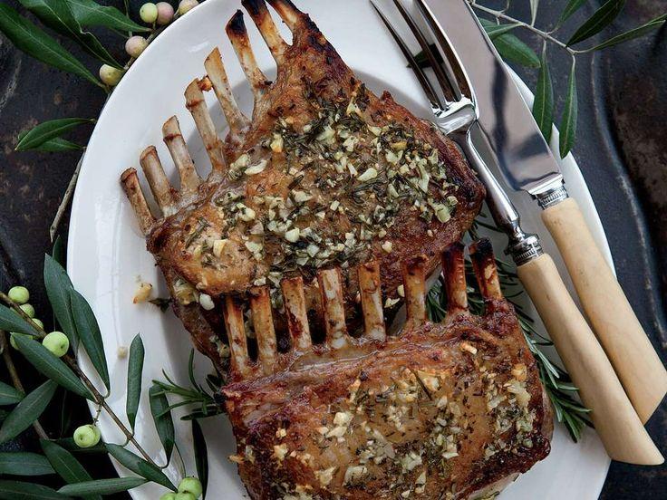 Garlic-Crusted Roast Rack of Lamb