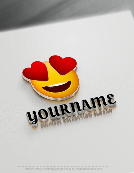 Creating Heart-face Emoji Logos with the best of the Logo Makers is fast and very easy. Browse our pre-made templates gallery, we have 1,000's of ready-made cool logos to choose from.