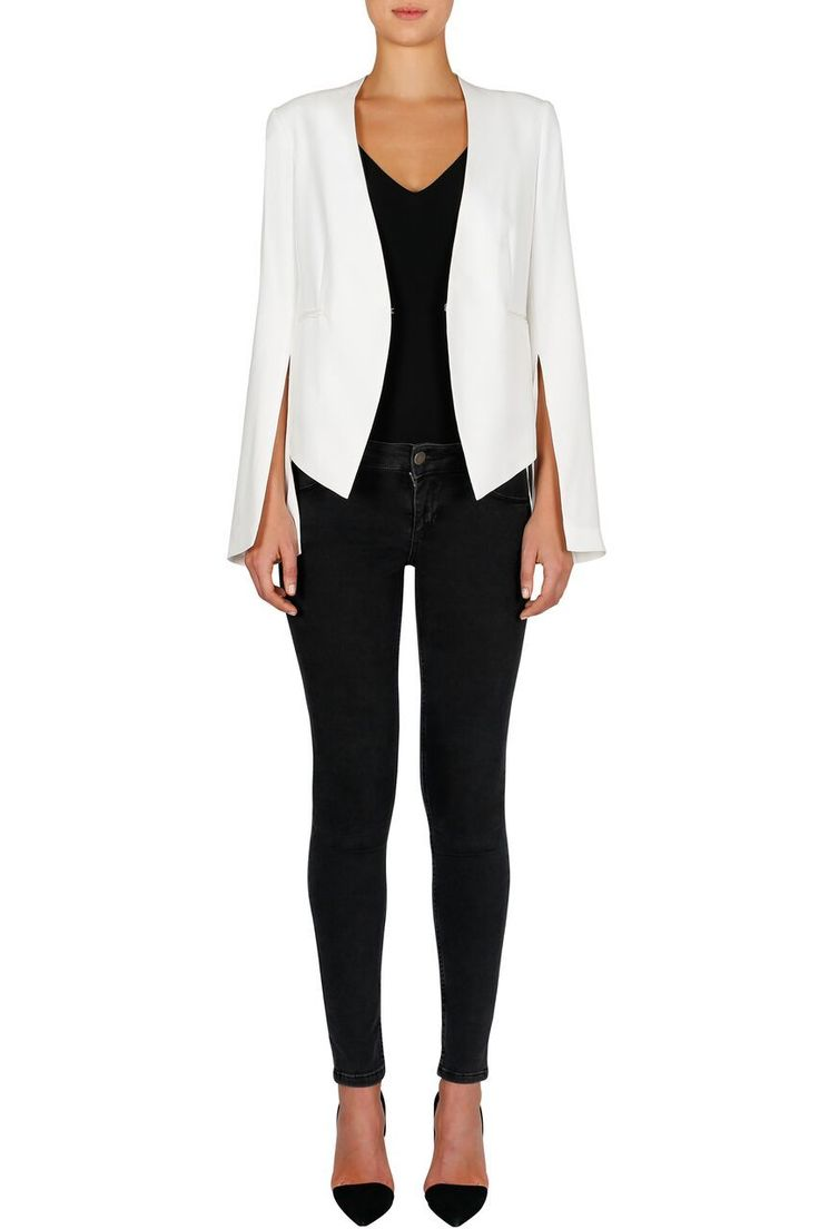 Luxe Deluxe - Fast Fix Split Sleeve Jacket - White