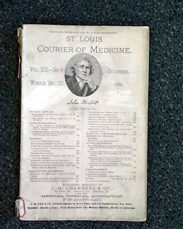 Late 1800's medicine journal