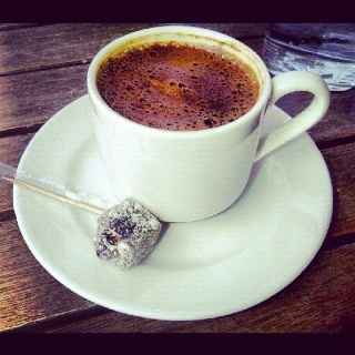Turkish delight & Turkish coffee