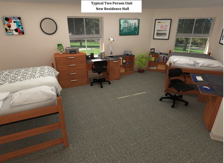 This Is A Typical Two Person Room In New Residence Hall At