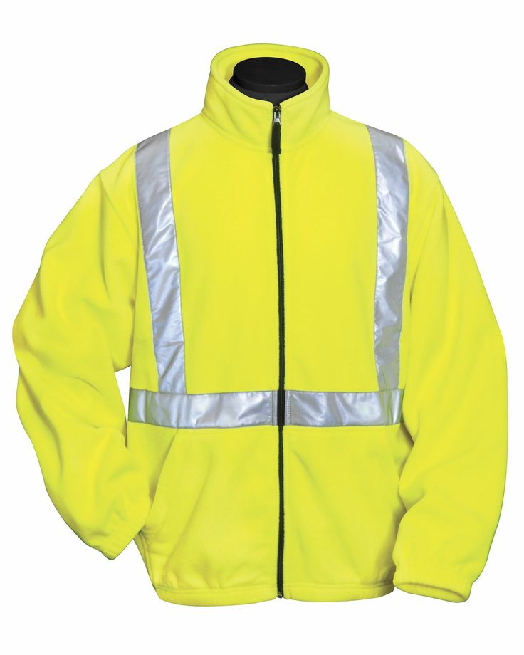 Safety Fleece Jacket Anti-Pilling. Ansi Class 2/Level 2 (100% Polyester) Tri mountain 7130 #Trimountain   #Jacket  #fleece #zipper #Safety