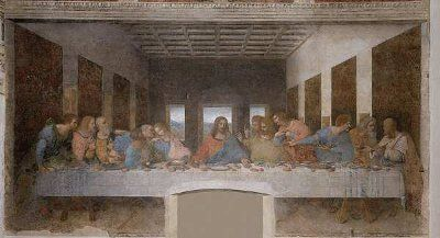 One of the most famous artworks from the renaissance time period. Leonardo Da Vinci's interpretation of the last supper.