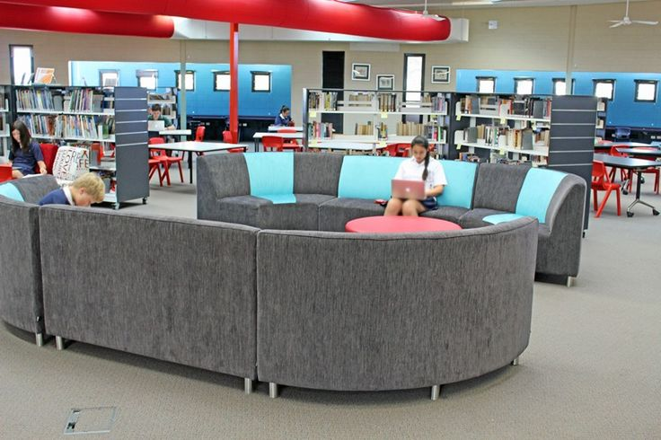 Beautiful comfy seating - the librarian says she has to chase the kids out now!!!