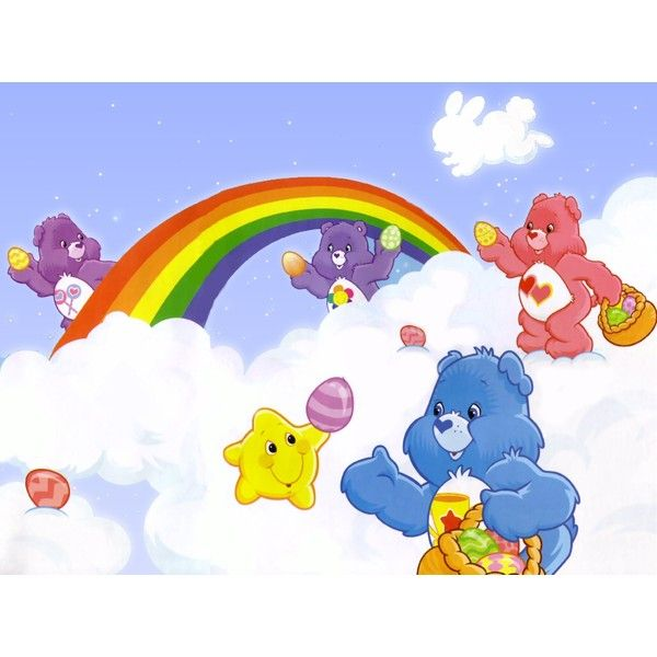 care bear easter rainbow Layout Graphic ❤ liked on Polyvore featuring care bear and carebear
