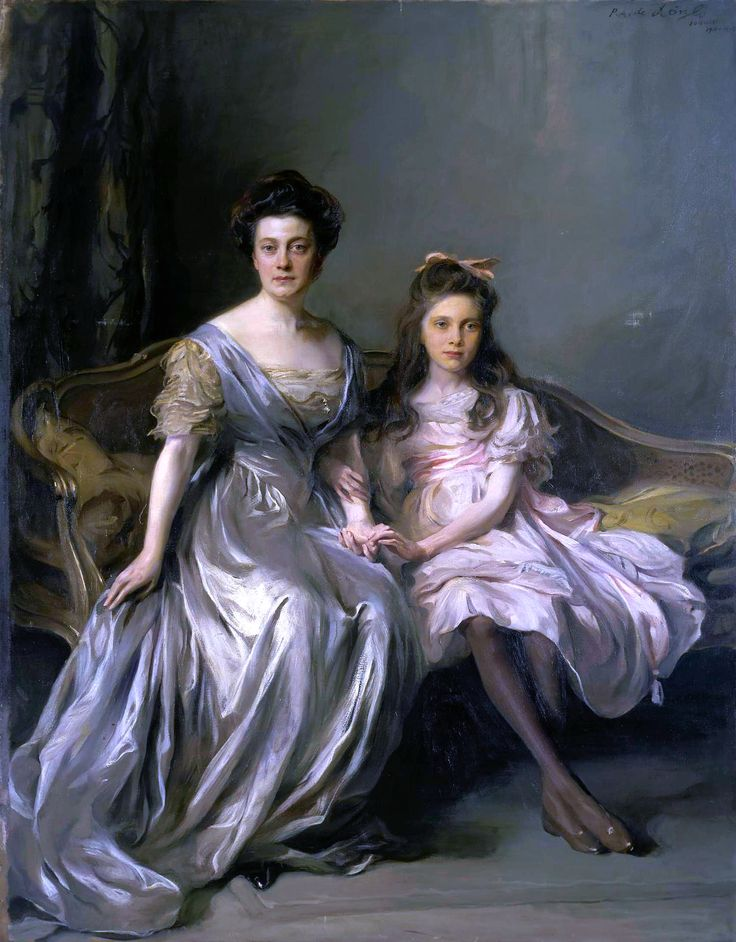 """Philip Alexius de László, """"Portrait of a Lady and her Daughter (Portrait of Anya and Lanya)"""""""